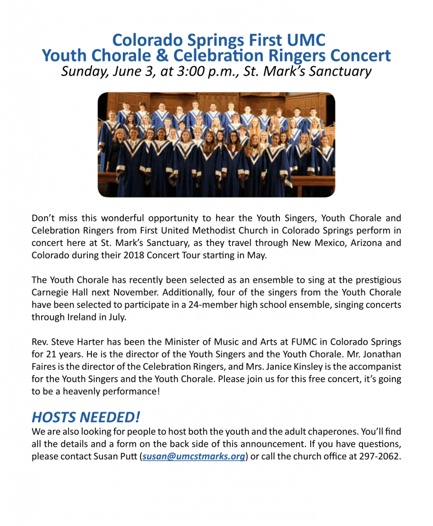 Youth Chorale and Celebration Ringers Concert